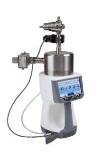 mikrobiologiczny próbnik powietrza minicapt mobile z przystawką do pomiaru gazów sprężonych